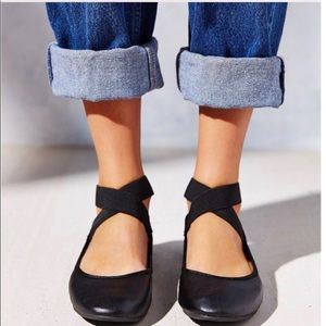 Urban Outfitters Wrap Around Ankle Ballet Flats